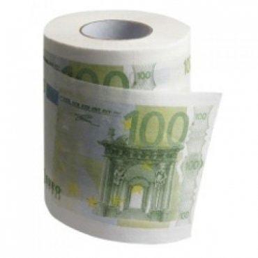 Tualetinis popierius 100 eurų