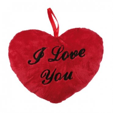 Pliušinė širdelė I love you