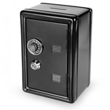 Metalinė taupyklė Banko saugykla su raktu