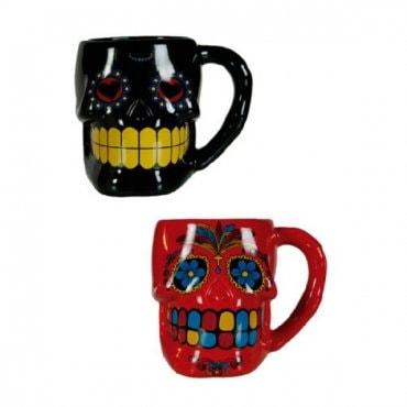 Meksikietiškas puodelis Kaukolė