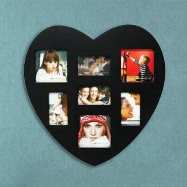 Nuotraukų rėmelis Juoda širdis