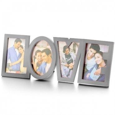 Nerūdijančio plieno nuotraukų rėmelis Didelė meilė LOVE