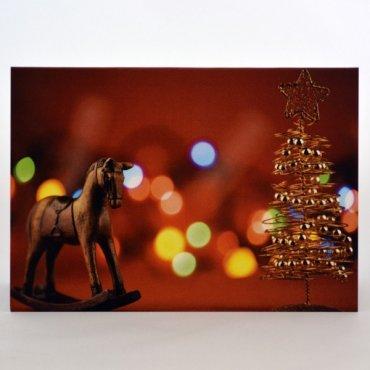 """Atvirukas """"Kalėdinės dekoracijos"""""""
