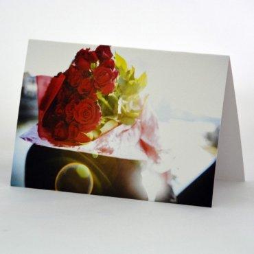"""Atvirukas """"Raudonų rožių puokštė"""""""