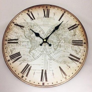"""Vintažinis sieninis laikrodis """"Du pasauliai"""""""