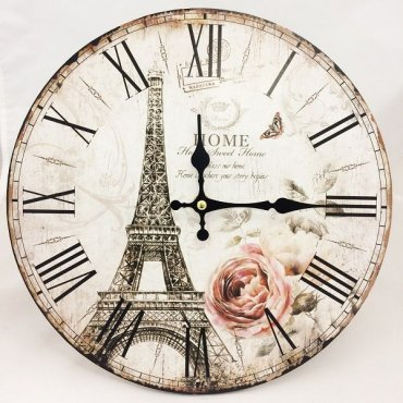 """Vintažinis sieninis laikrodis """"Eifelio bokštas"""""""
