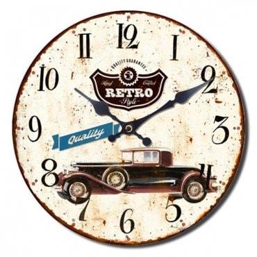 """Sieninis laikrodis """"Retro automobilis"""""""