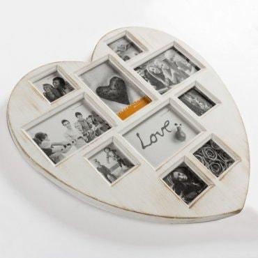 """Nuotraukų rėmelis """"Antikvarinė širdis"""""""