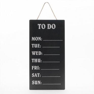 Kreidinė lenta savaitės užrašams