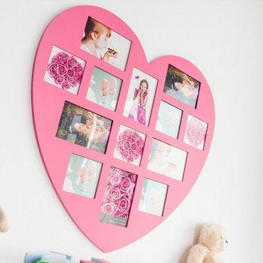 """Nuotraukų rėmelis """"Rožinė širdis"""""""