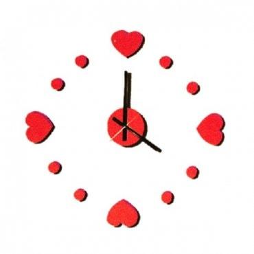 """""""Pasidaryk pats"""" sieninis laikrodis su širdelėmis"""