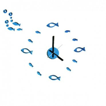 """""""Pasidaryk pats"""" sieninis laikrodis su žuvytėmis"""