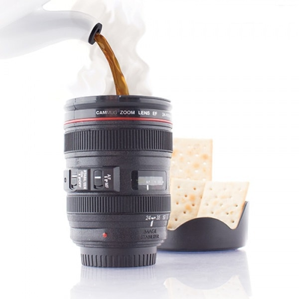 Puodelis fotoaparatas