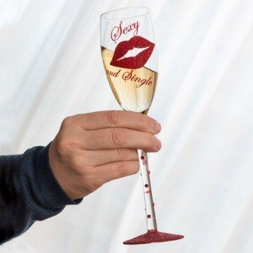 Šampano taurė Seksuali ir vieniša