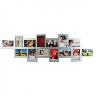Sidabro spalvos medinis nuotraukų rėmelis