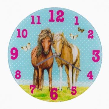 """Vaikiškas sieninis laikrodis """"Žirgai"""""""