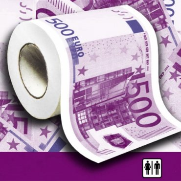 """Tualetinis popierius """"500 eurų"""""""