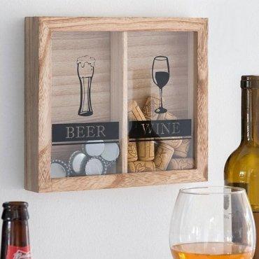 Rėmelis – dėžutė vyno ir alaus kamšteliams