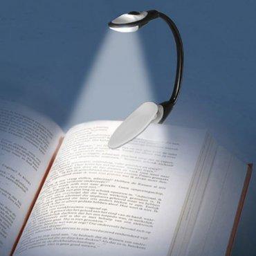 Prisegamas LED šviestuvas skaitymui