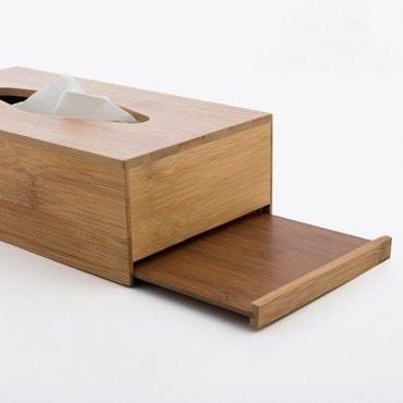 Bambukinė dėžutė servetėlėms