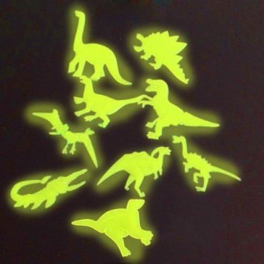 Tamsoje šviečiantys dinozaurai