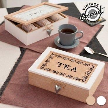 Vintažinė dėžutė arbatos maišeliams