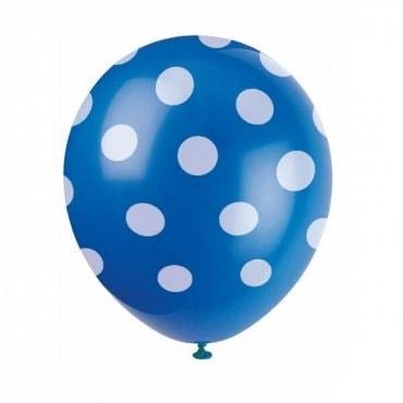 Mėlynas taškuotas balionas