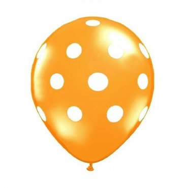 Oranžinis taškuotas balionas