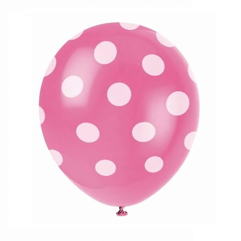 Rožinis taškuotas balionas