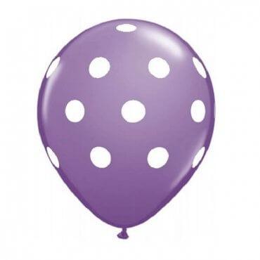Violetinis taškuotas balionas
