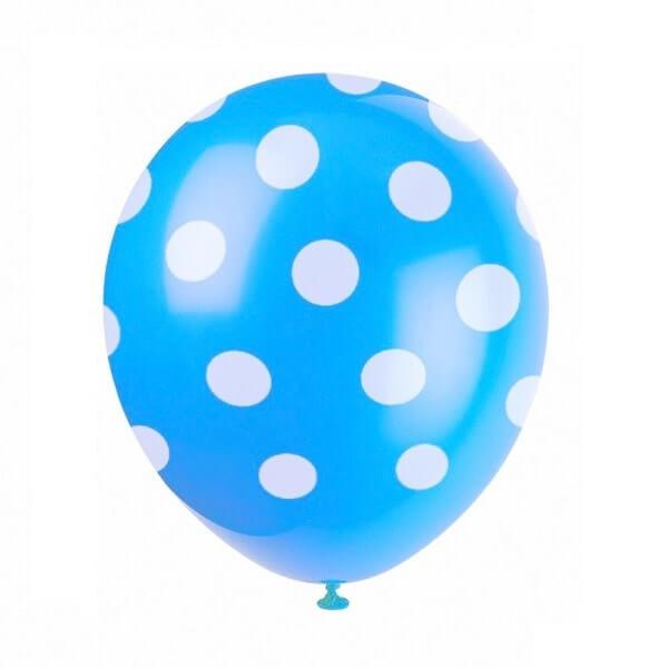 Žydras taškuotas balionas