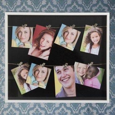 Nuotraukų rėmelis su segtukais