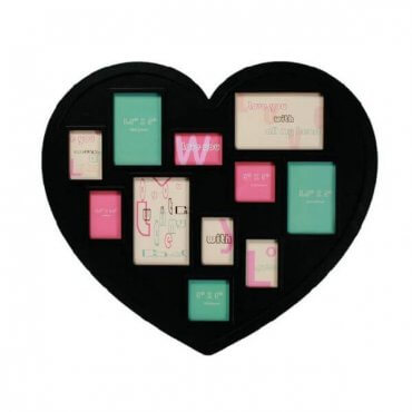 Širdelės formos 11 nuotraukų rėmelis