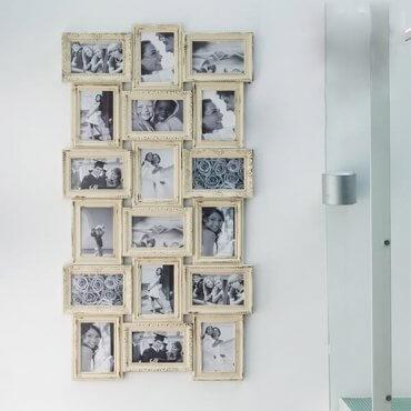 """Vintažinio stiliaus 18 nuotraukų rėmelis """"Prisiminimai"""""""