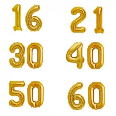 "2 XXL dydžio balionai gimtadienio proga ""Metai"""