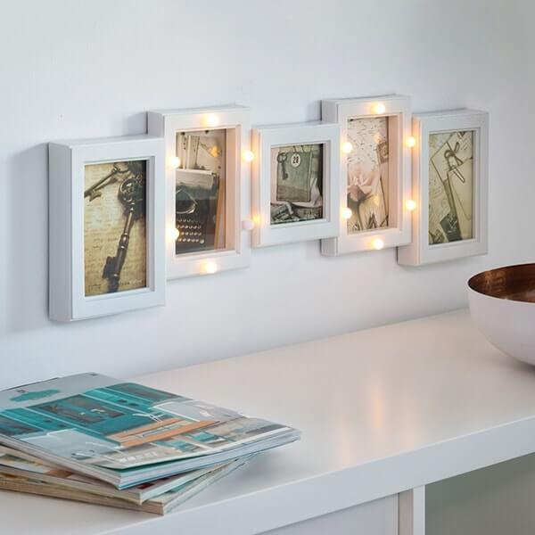 5 nuotraukų rėmelis su LED apšvietimu