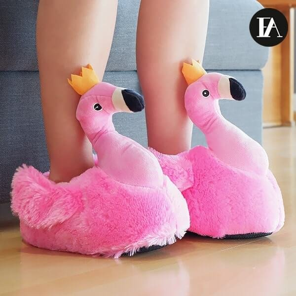 Šlepetės flamingai2