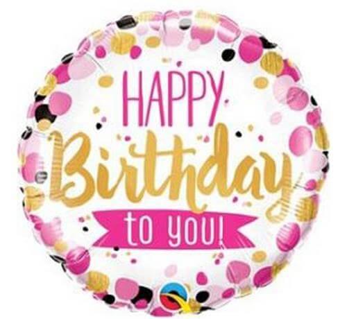 Happy Birthday To You.Spalvotas Folinis Nepripustas Balionas Happy Birthday To You
